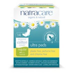 The Natracare regular ultra pad with Wings